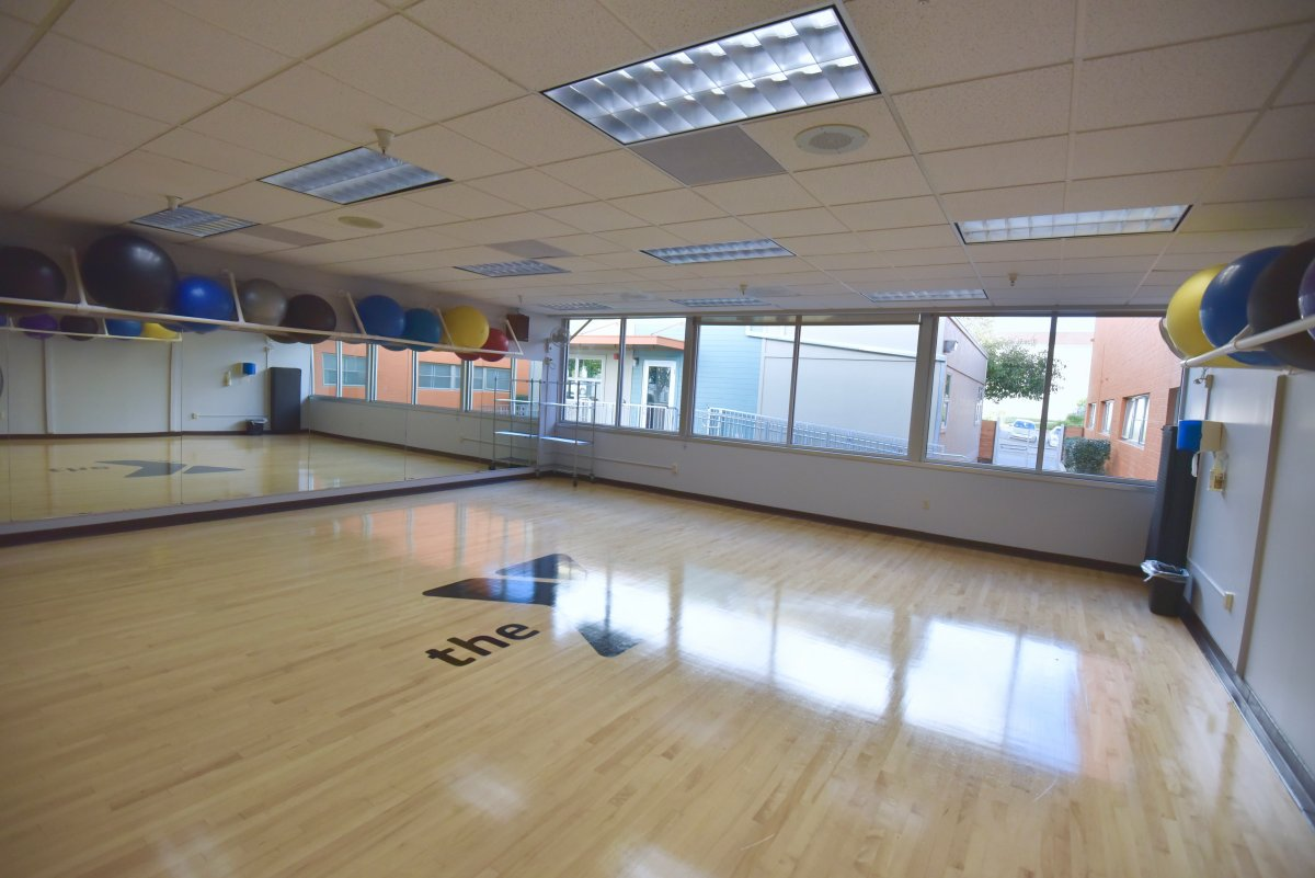 (Studio view 1) More group exercise space means more convenient, and expanded, group exercise classes.