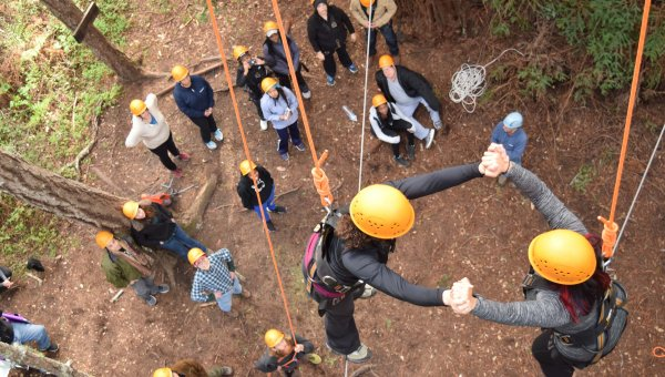Ropes Course Leadership Ventures Ymca Sf